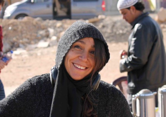 Filmmaker Haifaa Al-Mansour on the set of her film Wadjda (2012)