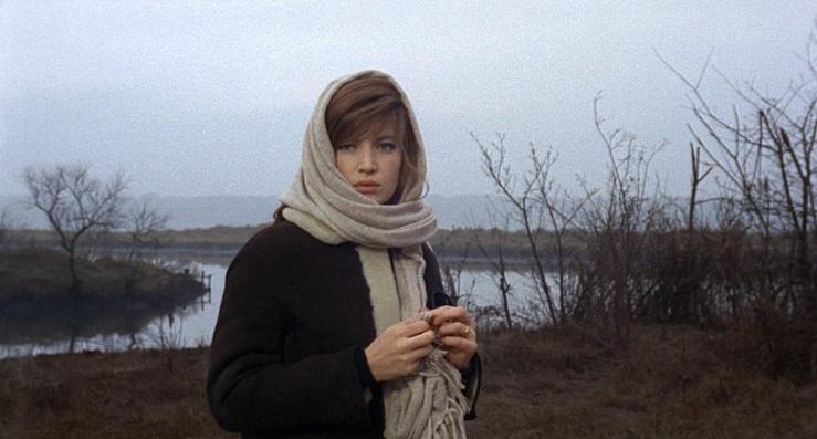 Monica Vitti's Giuliana in Michelangelo Antonioni's Red Desert (Il deserto rosso, 1964)