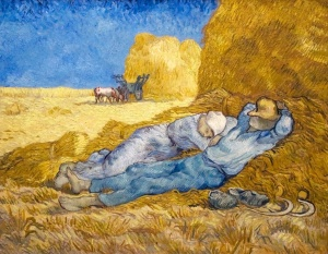 Noon Rest from Work (after Millet), 1890