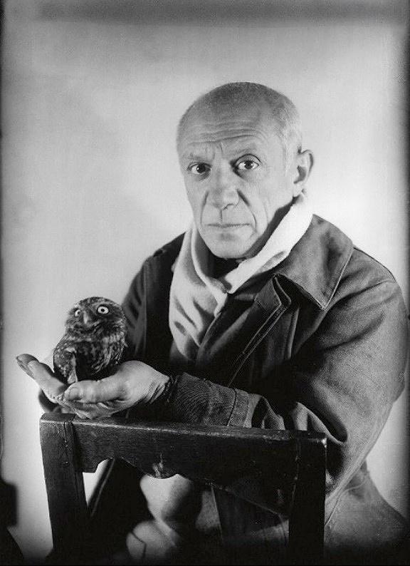 Pablo Picasso by Michel Sima, 1948