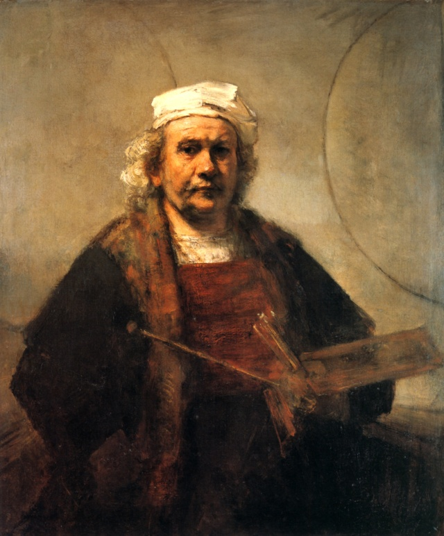Rembrandt van Rijn's Self-Portrait with Two Circles, 1660