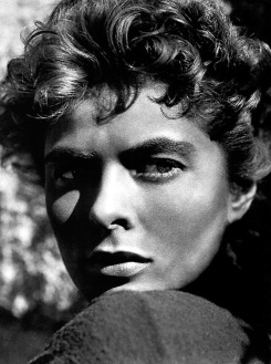 Ingrid Bergman's Maria in Sam Wood's adaptation of Ernest Hemingway's novel about the Spanish Civil War, For Whom the Bell Tolls (1943) photographed by Ray Rennahan
