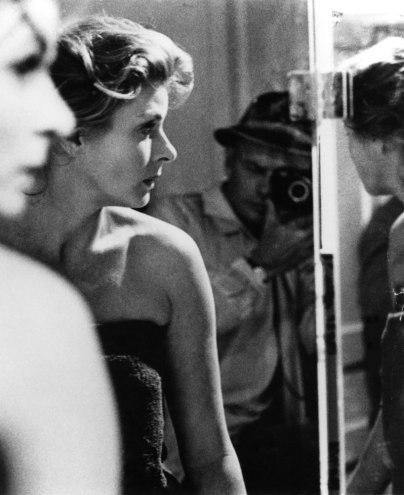 Actor Yul Brynner selfportrait with Ingrid Bergman, 1961