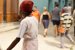 Monday morning on Habana Vieja's Obispo street Photograph: Georgia Korossi/11polaroids