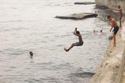 Freediving: Castillo de San Salvador de la Punta Photograph: Georgia Korossi/11polaroids