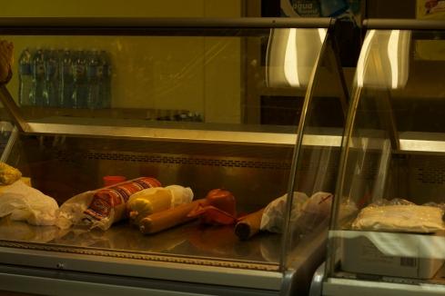 Cold meat: supermarket, Trinidad Photograph: Georgia Korossi/11polaroids