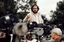 Director Stanley Kubrick on location