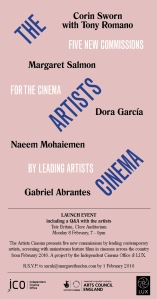 The Artists Cinema invitation
