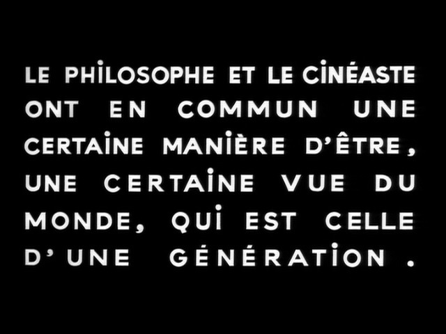 A text card from Masculin Féminin (1966) directed by Jean-Luc Godard