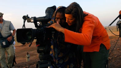 Award-winning documentary filmmaker and cinematographer Kirsten Johnson behind the camera. Her brilliant film Cameraperson (2016) exposes her experiences filming through a memoir made up of decades of footage shot all over the world.