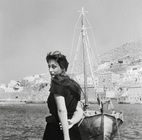 "Greek stage and screen actor Elli Lambeti (1926-1983) who is also featured on one of the covers of Chris Marker's ""Petite Planète"" guides, each dedicated to a different country, which he initiated and directed from 1954-58 while working at the Paris-based publisher Éditions du Seuil."