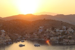 Sunset in Yialos, Symi.