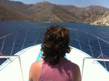 Niall gazing ahead: Agios Nikolaos-Agia Marina-Agios Georgios-Nanou route.
