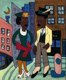 Street Life, Harlem, 1939, by William H Johnson | America After the Fall: Painting in the 1930s exhibition at the Royal Academy of Arts, London, 25 February – 4 June 2017